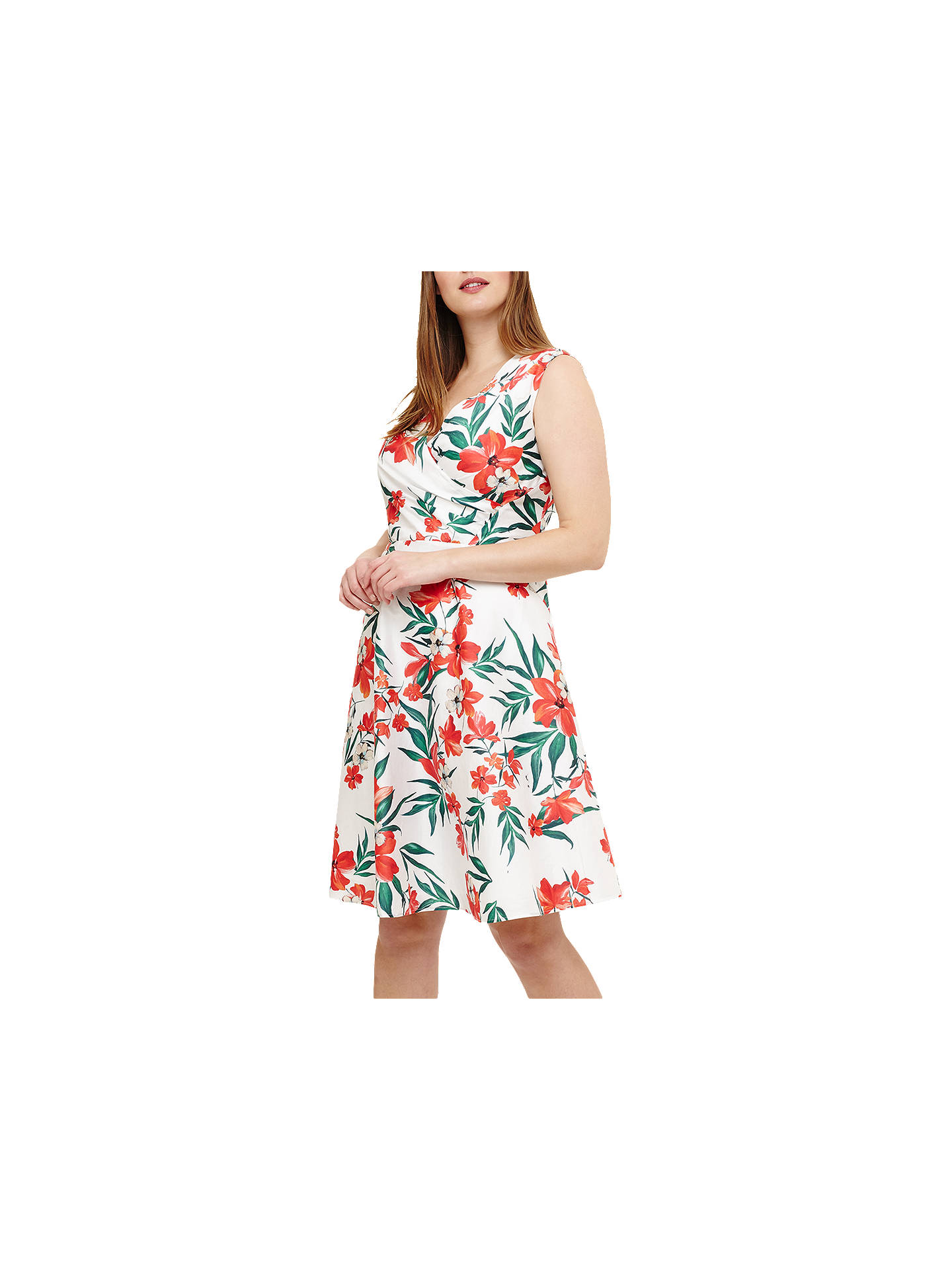 BuyStudio 8 Ivanna Floral Dress, White/Multi, 12 Online at johnlewis.com