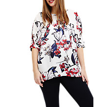 Buy Studio 8 Layla Floral Top, Ivory/Multi Online at johnlewis.com