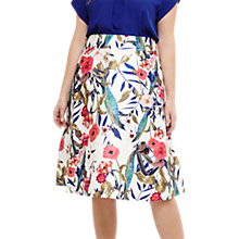 Buy Studio 8 Samantha Floral Skirt, Ivory/Multi Online at johnlewis.com