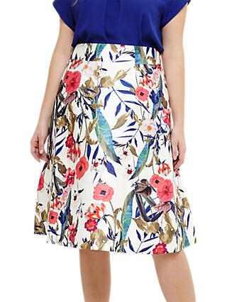 Studio 8 Samantha Floral Skirt, Ivory/Multi