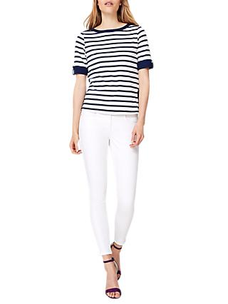 Damsel in a Dress Preppy Stripe Jersey Top, Multi