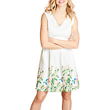 Buy Yumi Botanical Border Print Dress, White/Multi Online at johnlewis.com
