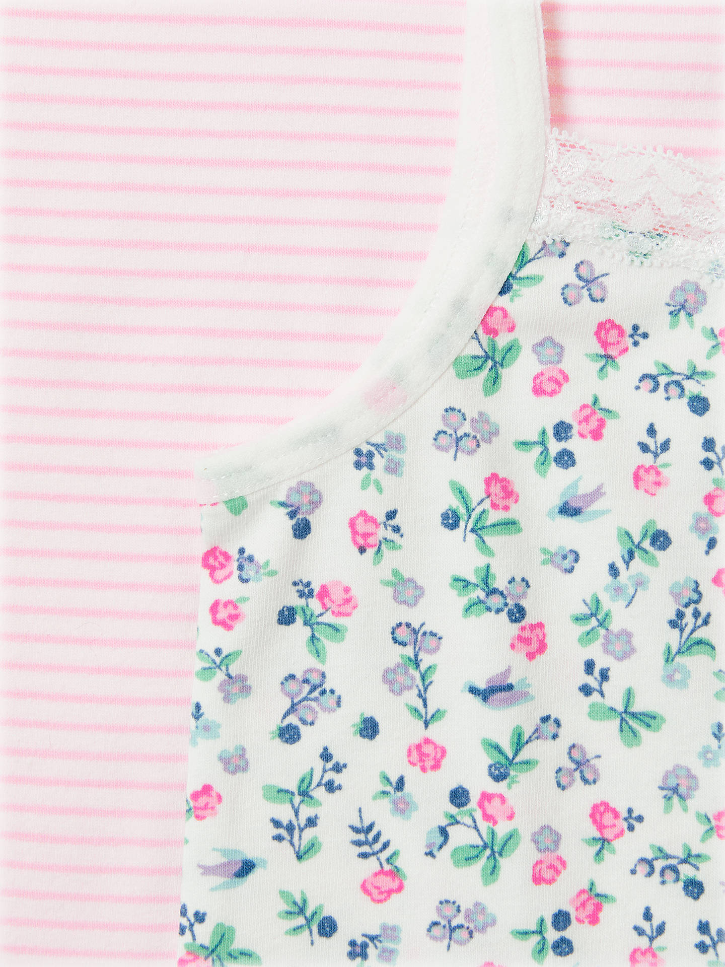 BuyJohn Lewis & Partners Girls' Floral Berry Print Vests, Pack of 2, Multi, 2 years Online at johnlewis.com