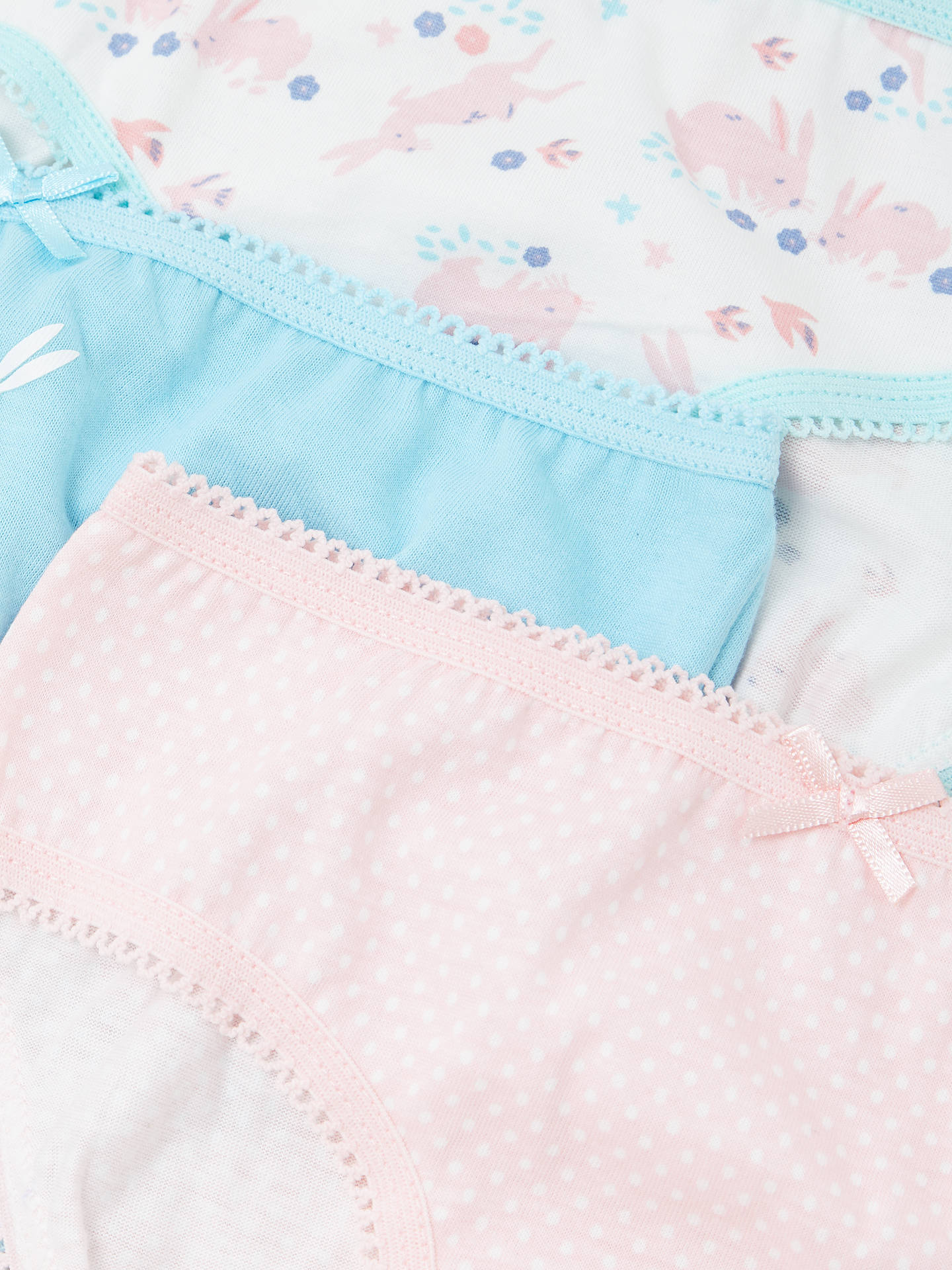BuyJohn Lewis & Partners Girls' Rabbit Briefs, Pack of 5, Pink, 2 years Online at johnlewis.com