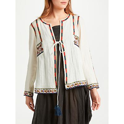 Star Mela Anouk Embroidered Jacket Top, Ecru