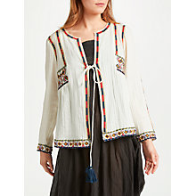 Buy Star Mela Anouk Embroidered Jacket Top, Ecru Online at johnlewis.com