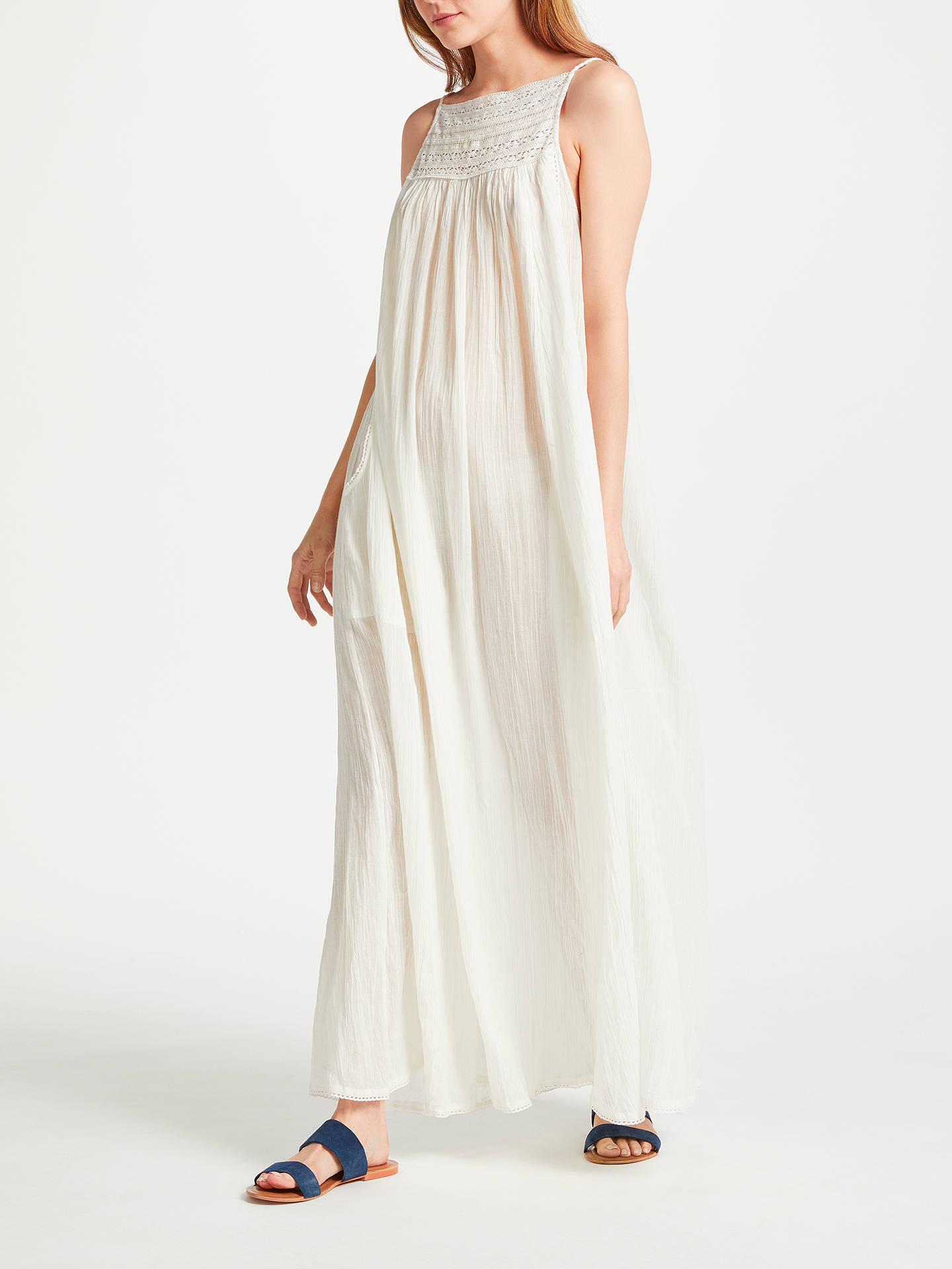 BuyStar Mela Carly Maxi Dress, White, S Online at johnlewis.com