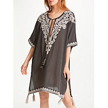 Buy Star Mela Pavi Embroidered Kaftan, Charcoal/Oyster Online at johnlewis.com
