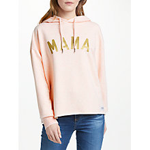 Buy Selfish Mother Mama Hoodie, Dusty Pink/Gold Online at johnlewis.com