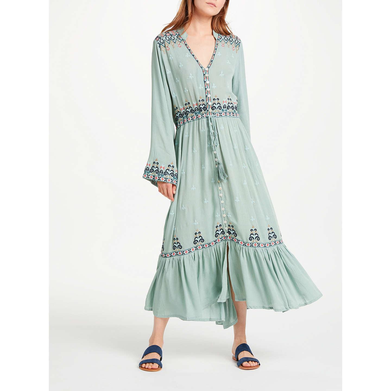 Ruby Yaya Nolan Embroidered Dress, Sage at John Lewis