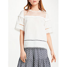 Buy SUNCOO Loan Blouse, White Online at johnlewis.com