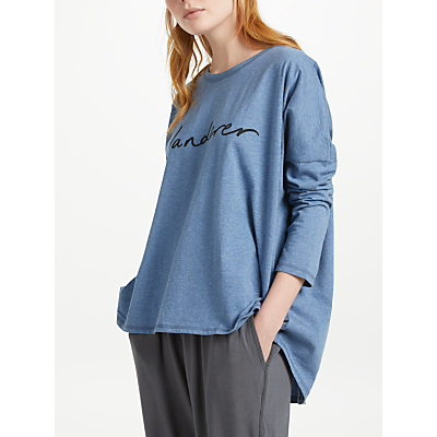 Thought Wanderer Slub Jersey T-Shirt, Blueberry