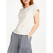 Buy SUNCOO Michelle T-Shirt, Off White Online at johnlewis.com