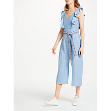 Buy SUNCOO Thomas Flounce Jumpsuit, Blue Online at johnlewis.com