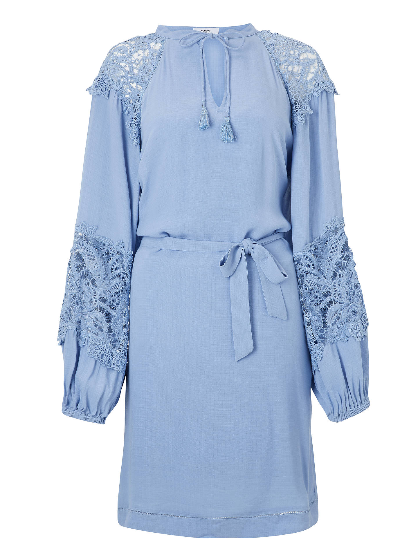 Buy SUNCOO Cleo Dress, Blue, 8 Online at johnlewis.com