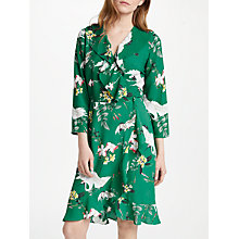 Buy Y.A.S Crane Wrap Dress, Green Online at johnlewis.com