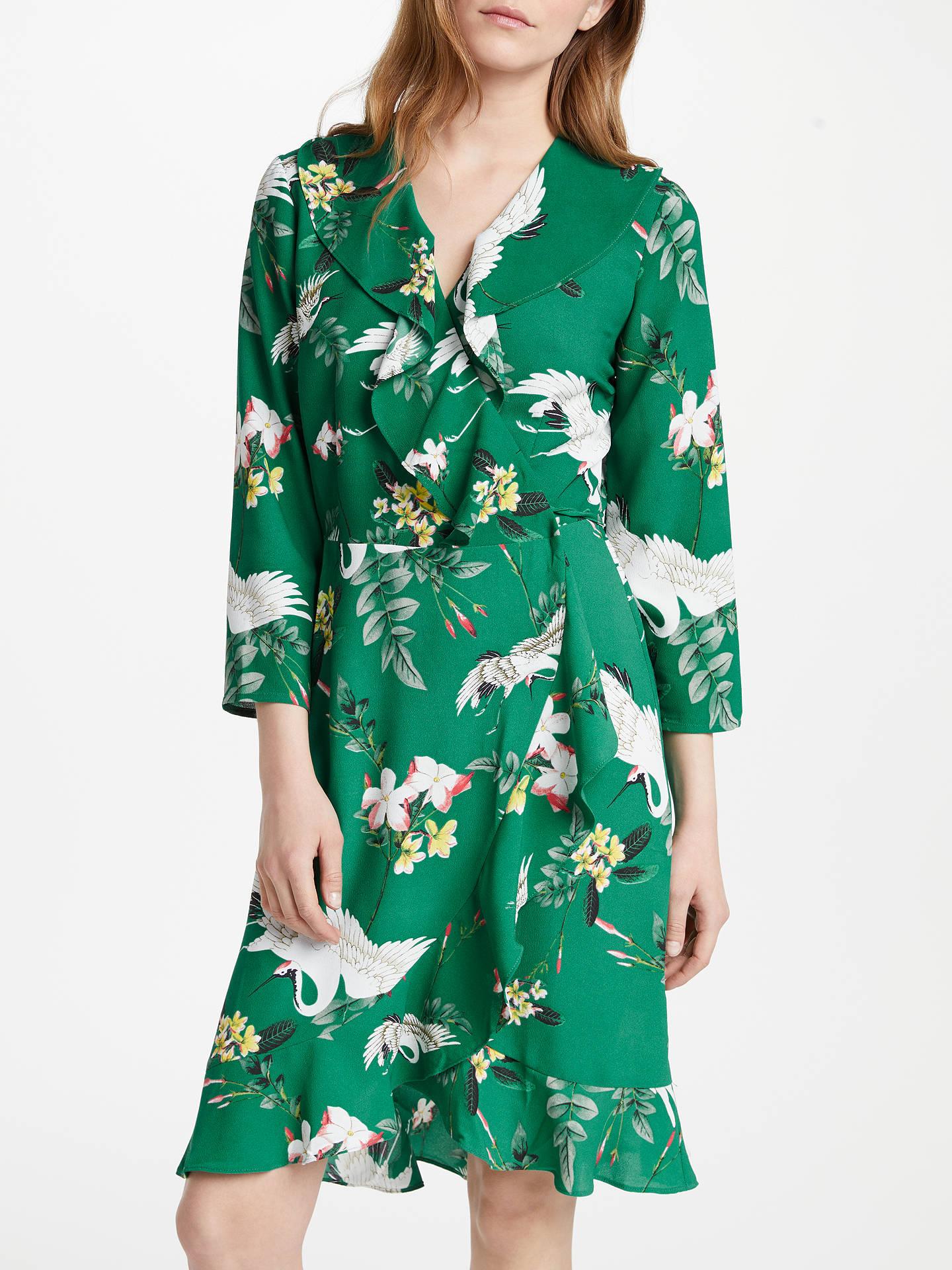 483fc690a240 Buy Y.A.S Crane Wrap Dress, Green, S Online at johnlewis.com ...