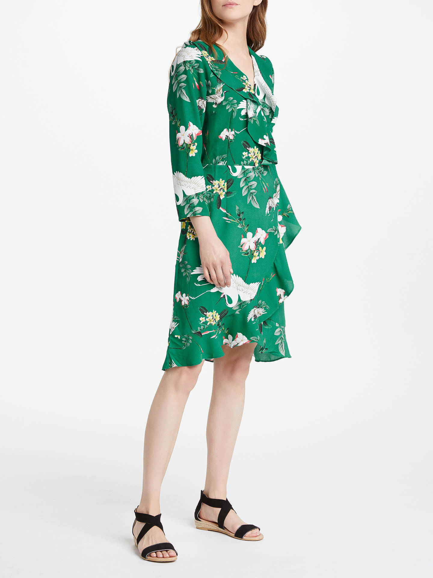 375f872cfd9f ... Buy Y.A.S Crane Wrap Dress, Green, S Online at johnlewis.com ...