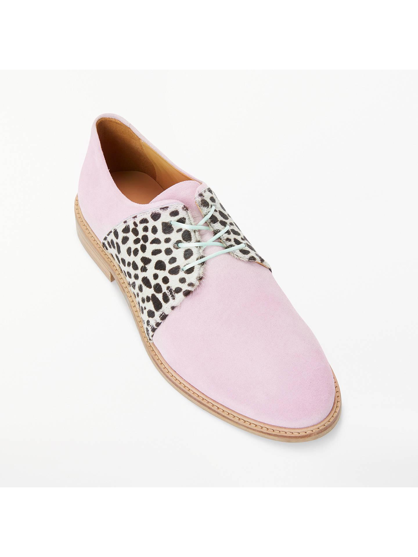 Rogue Matilda Bonbon Brogues, Light Pink at John Lewis & Partners