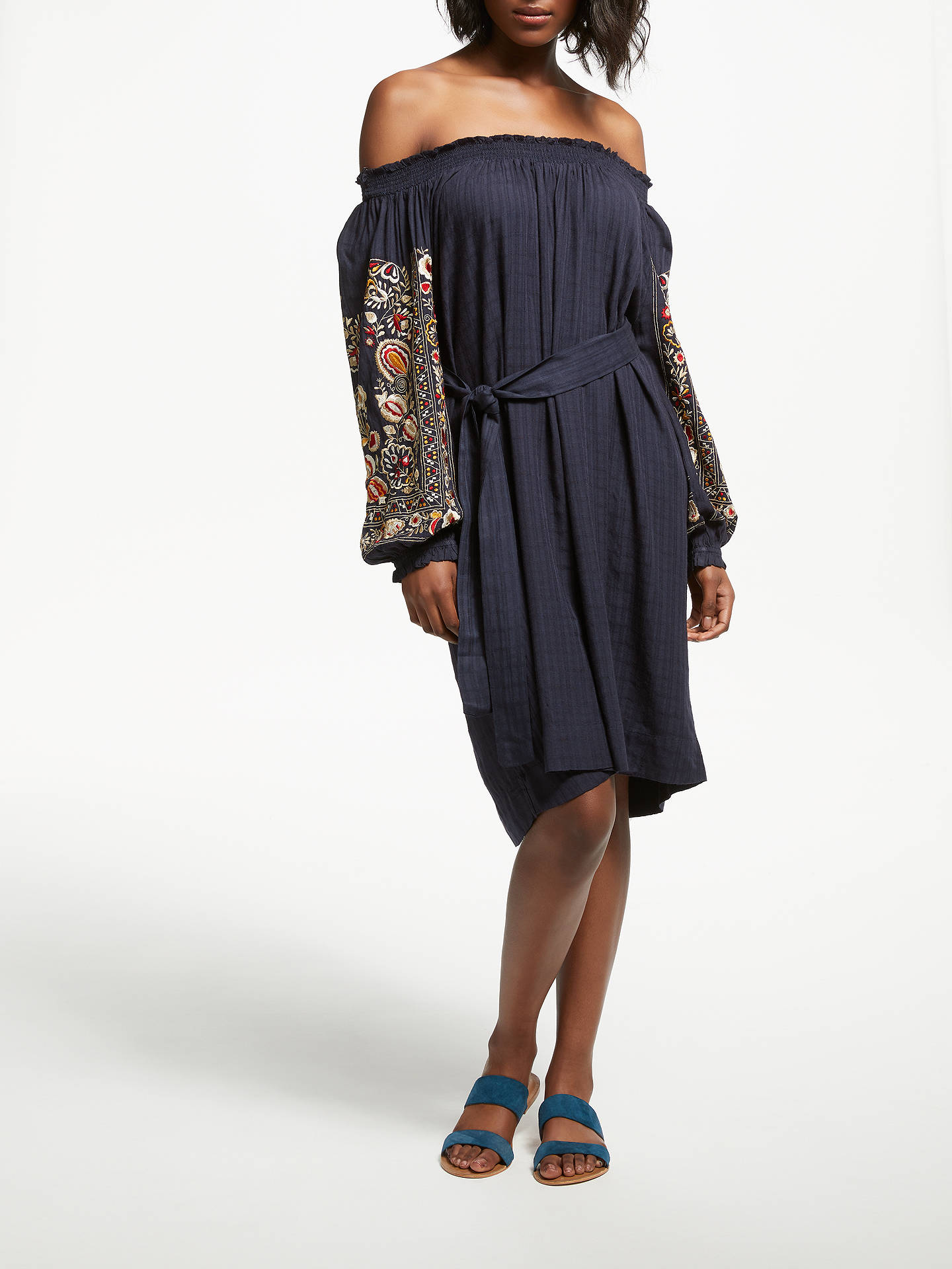 Buy Stella Forest Samara Dress, Blue, 10 Online at johnlewis.com