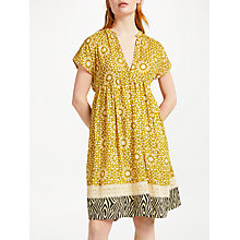 Buy Stella Forest Mosaic Short Dress, Yellow Online at johnlewis.com