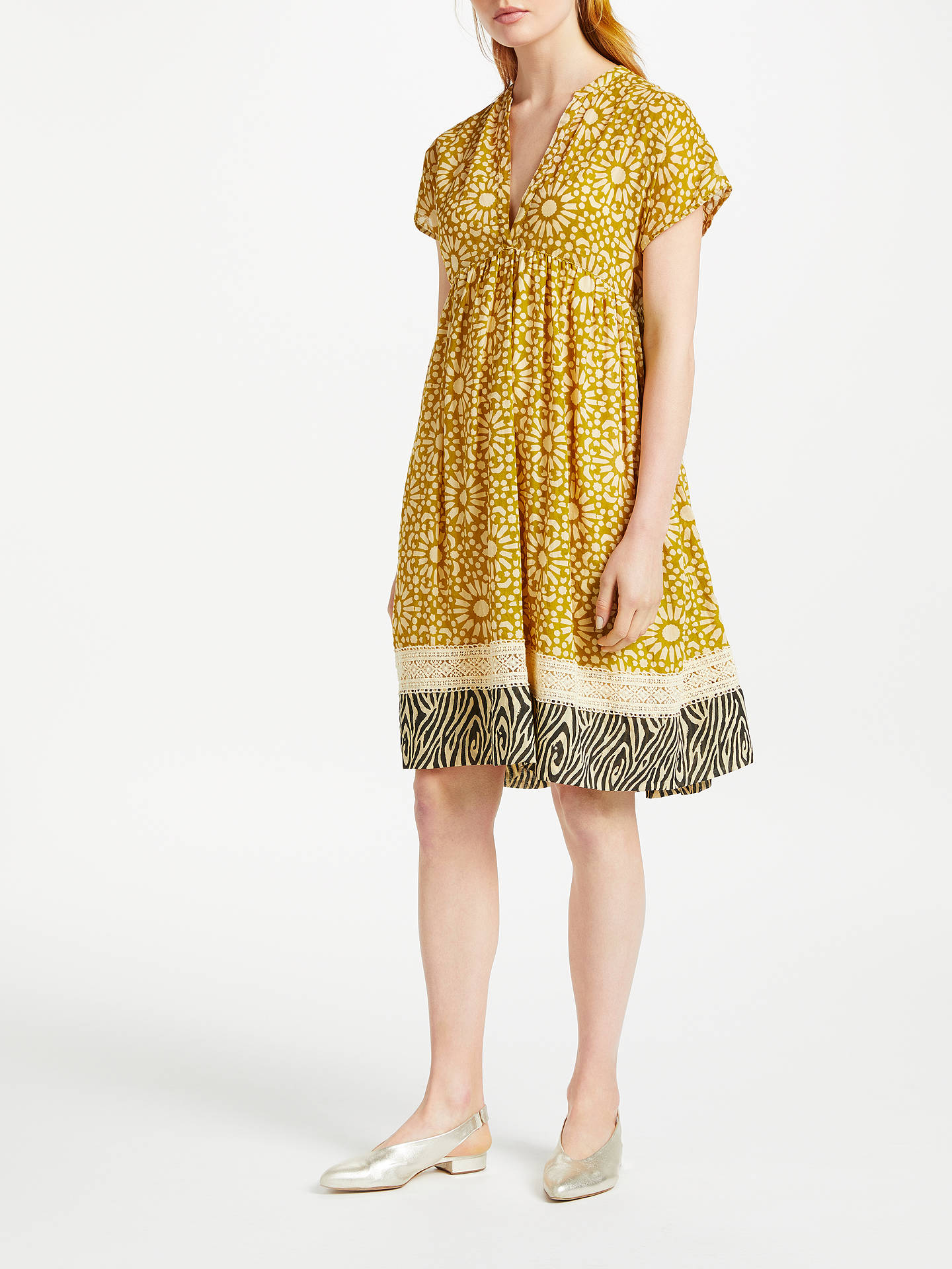 Buy Stella Forest Mosaic Short Dress, Yellow, 8 Online at johnlewis.com