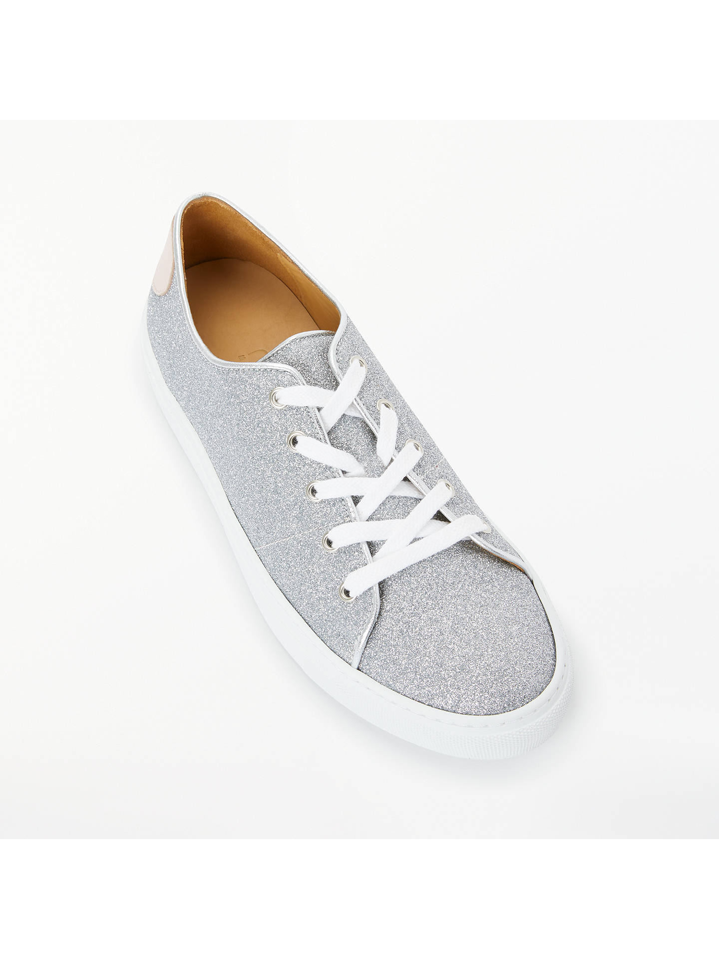 Rogue Matilda Sweetheart Trainers, Grey Glitter at John