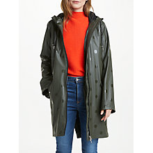 Buy Y.A.S Thelka Dot Raincoat, Green Online at johnlewis.com