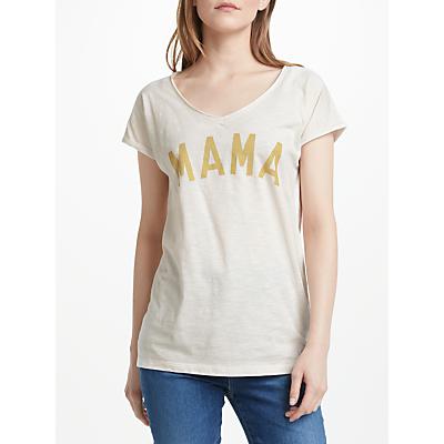 Selfish Mother Mama Slub T-Shirt, Vintage White/Gold