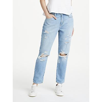Pieces Low Waist Boyfriend Jeans, Light Blue Denim