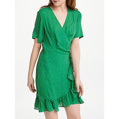 Just Female Renata Wrap Dress, Green