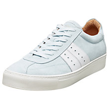 Buy Selected Femme Dina Suede Trainers, Grey Mist Online at johnlewis.com