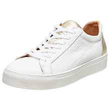 Buy Selected Femme Donna Contrast Trainers, White Online at johnlewis.com