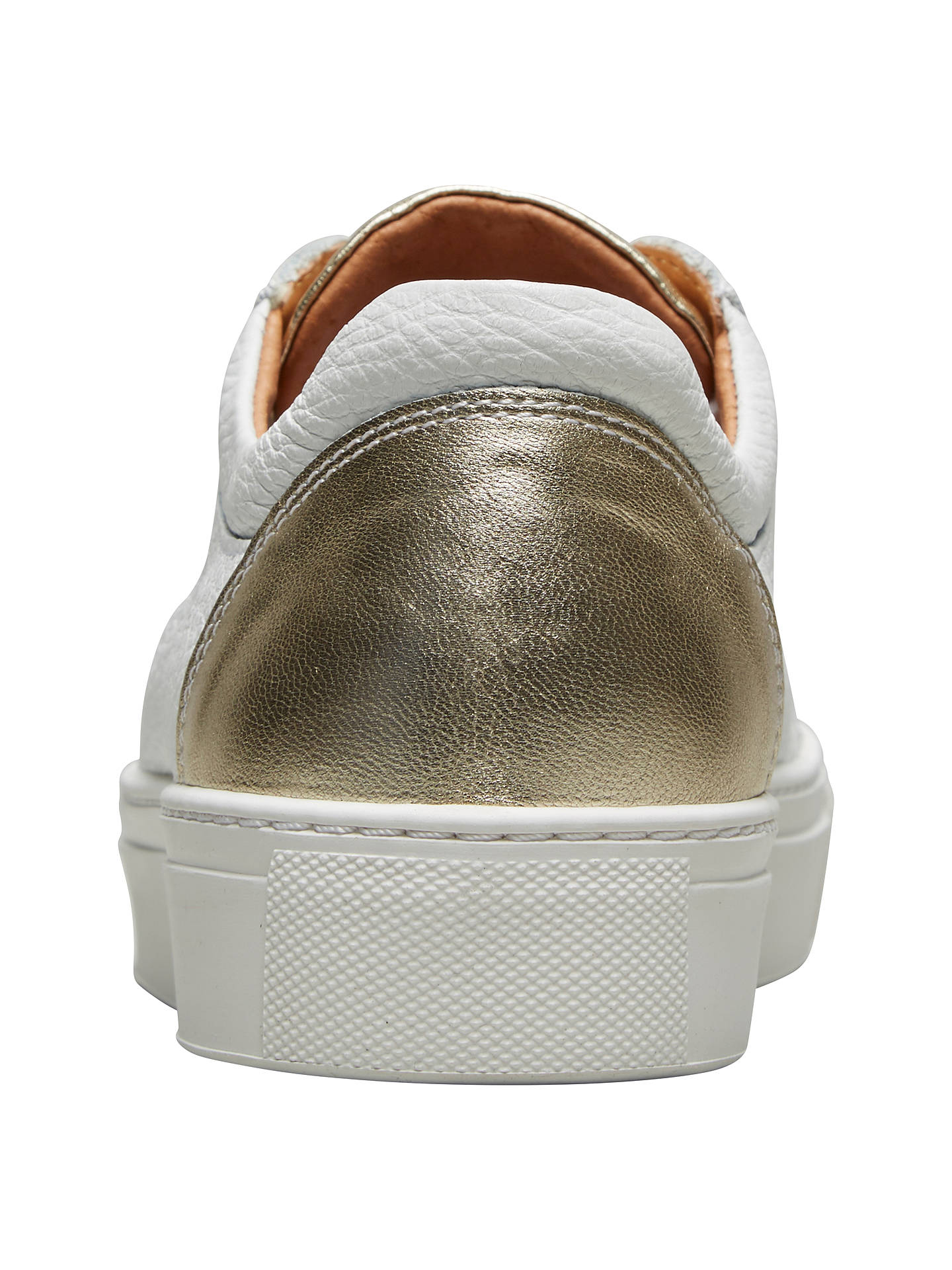 BuySelected Femme Donna Contrast Trainers, White/Gold, 4 Online at johnlewis.com