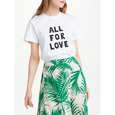 Just Female All For Love T-Shirt, White