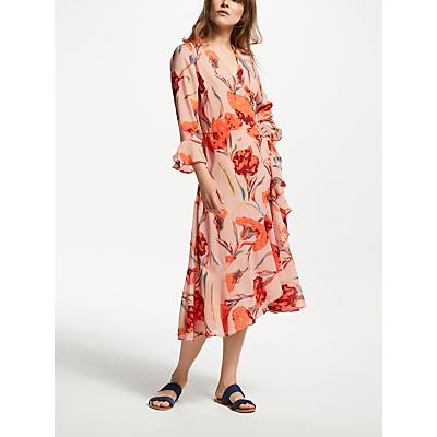 Y.A.S Cacco Floral Print Wrap Dress, Multi