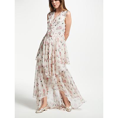 Y.A.S Loriette Most Maxi Floral Dress, White/Multi