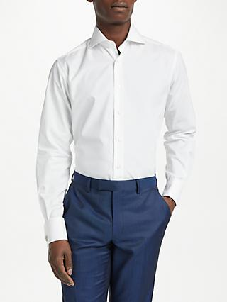 Smyth & Gibson Non Iron Poplin Double Cuff Contemporary Fit Shirt, White