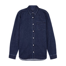 Buy Jaeger Denim Shirt, Indigo Blue Online at johnlewis.com