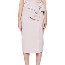 Buy Ted Baker Liyah Integral Bow Pencil Skirt, Baby Pink Online at johnlewis.com