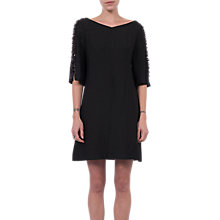 Buy French Connection Dominica Cluster Sleeve Dress, Black Online at johnlewis.com