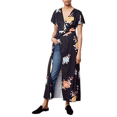 French Connection Shikoku Jersey Dress, Black/Multi
