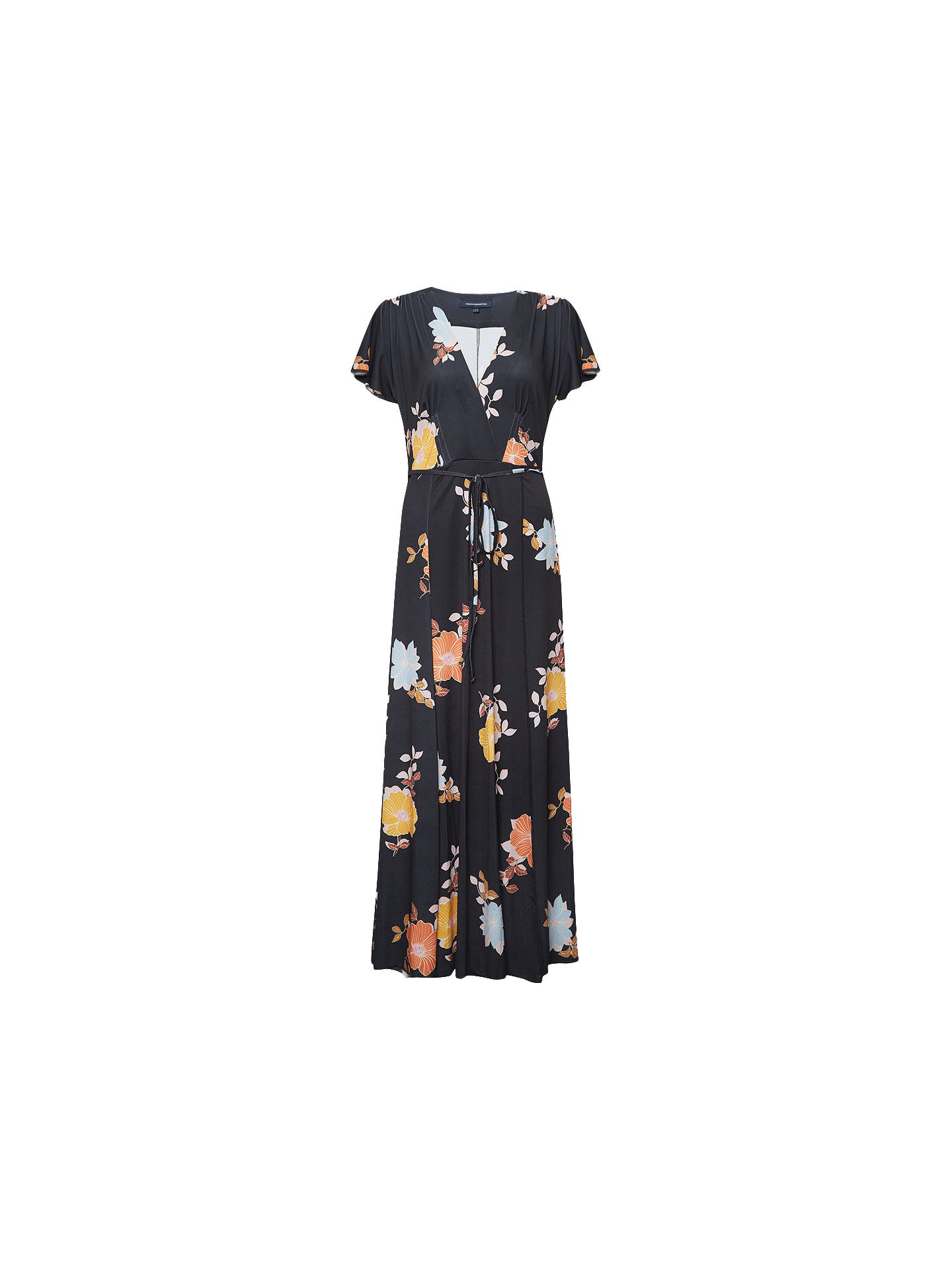 17c22b8d95a Buy French Connection Shikoku Jersey Dress, Black/Multi, 6 Online at  johnlewis.