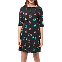 Buy Sugarhill Boutique Alison Flamingo Tunic Dress, Black Online at johnlewis.com