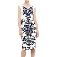 Buy Phase Eight Whitney Placement Print Dress, Blue Navy/Ivory Online at johnlewis.com
