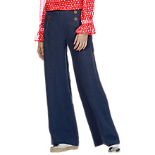 Buy Brora Wide Leg Linen Trousers Online at johnlewis.com