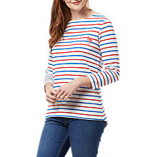 Buy Sugarhill Boutique Brighton Flamingo Embroidered Top, Cream/Red/Blue Online at johnlewis.com