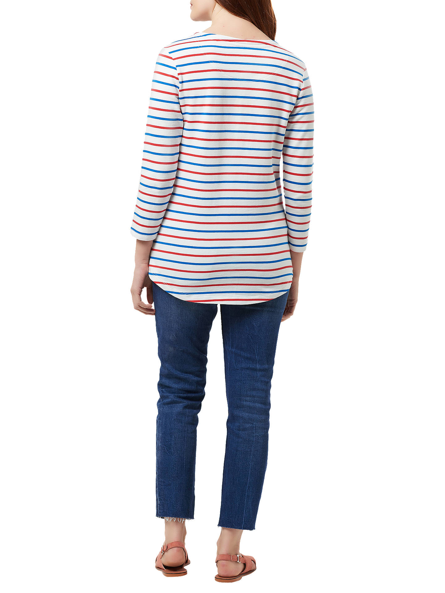 Buy Sugarhill Brighton Brighton Flamingo Embroidered Top, Cream/Red/Blue, 8 Online at johnlewis.com