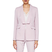 Buy Ted Baker Dornaj Lapel Suit Jacket, Dusky Pink Online at johnlewis.com
