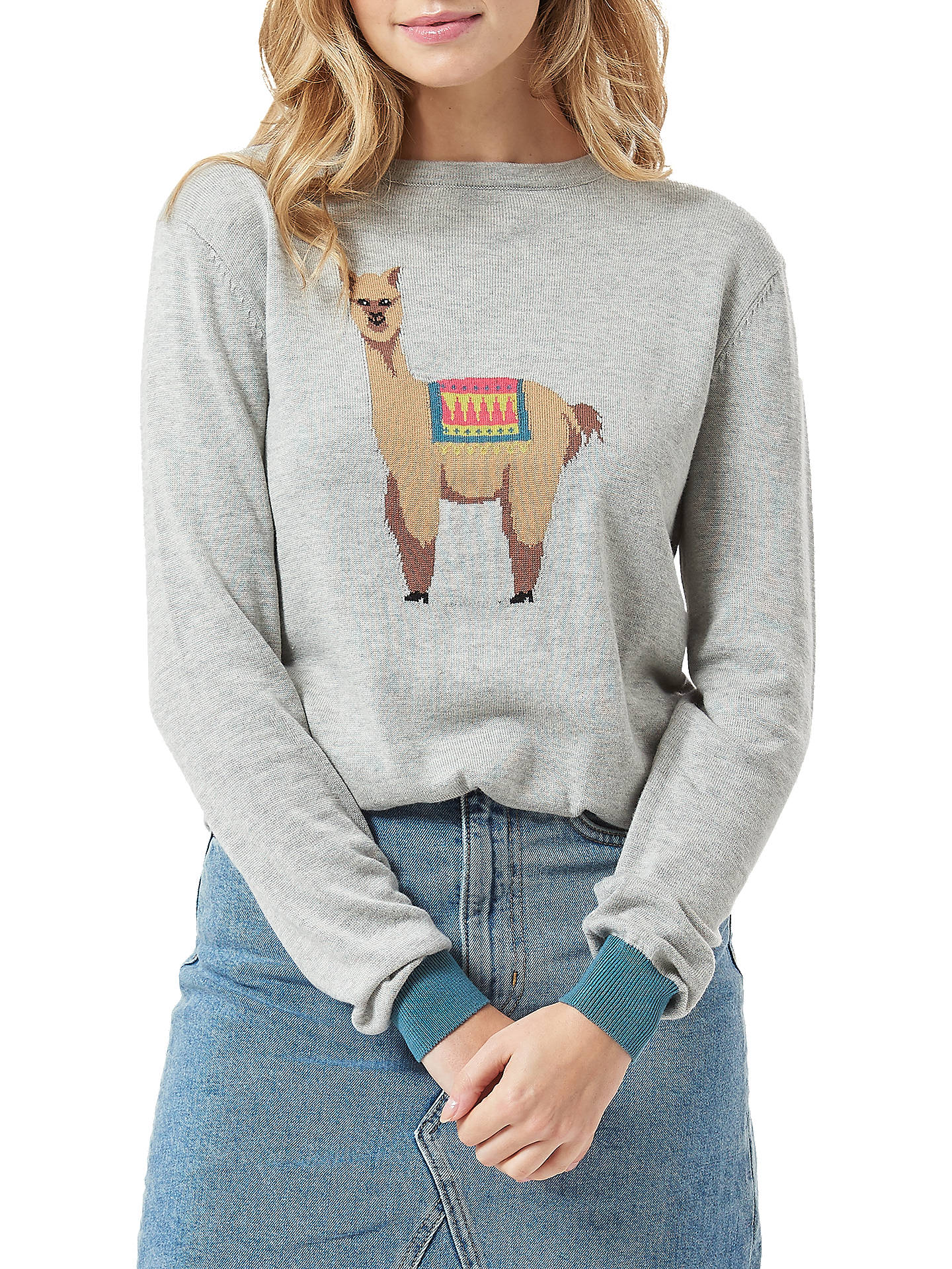 BuySugarhill Brighton Llama Jumper, Grey Marl, 8 Online at johnlewis.com